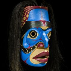 """Prince of the Undersea"" Mask by Chazz Mack, Heiltsuk artist (X130602)"