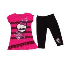 Monster High Dress with Leggings Girls Clothing Set Monster Buy new  1899 - 2897 Visit the Most Wished For in Girls list for authoritative information on this products current rank  love it