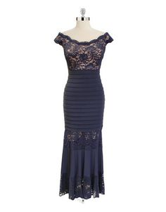Women | Evening Gowns | Off Shoulder Bodycon Lace Gown | Hudson's Bay