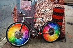 Color Swatch Bike Wheels | 20 DIY Ways To Pimp Your Bike