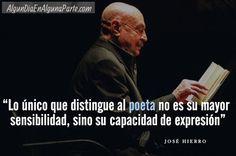 #Taldíacomohoy #21Dic de 2002 falleció el poeta #JoséHierro, Premio Príncipe de Asturias de las Letras y Cervantes.