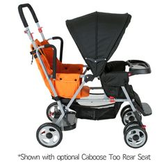 Joovy caboose stand on tandem double stroller w/too rear seat