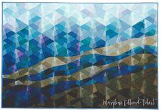 "Maryline Collioud-Robert, ""L'Instant dure"", art quilt made in 1985"