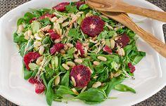 Spinach and blood orange salad