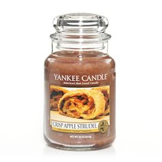 Yankee Candle Crisp Apple Strudel Large Jar 22 Oz Housewarmer Jar Home Decor New Yankee Candle Crisp Apple Strudel Scent Housewarmer Jar 22 Oz Large Jar First Quality Brown Wax Burn Time 100 to 150 Hours Home Decor Retired My Favorite Things M. Yankee Candle Scents, Yankee Candles, Yankee Candle Fall, Scented Candles, Candle Jars, Homemade Candles, Candle Holders, Candles, Home
