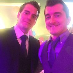 """""""No words, it's Superman"""" via Lee_Doody. See everything from London! http://bit.ly/1S3nHjf #oifawards  #HenryCavill"""