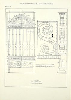 Architectural details of southern Spain