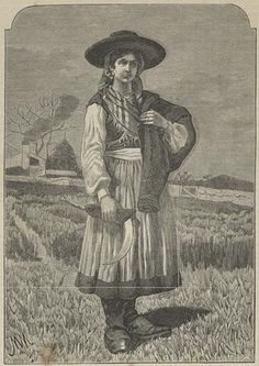 sec xix em portugal Portugal, Minho, Costumes, Folk Costume, Traditional Outfits, Portuguese, Strong Women, Ems, Azores
