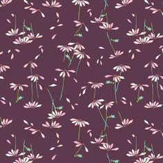 Amy Sinibaldi - Playground Voile - He Loves Me Voile in Plum