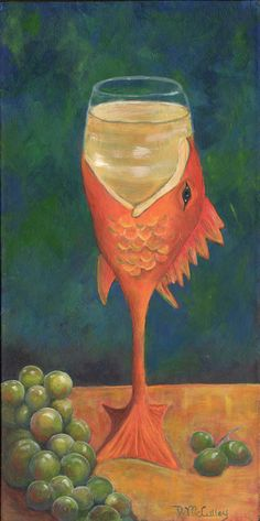 """""""Carp Chardonnay"""" is one in a series of 6 images from my Metamorphosis, From Animal To Wine"""" series www.debbiemcculley.com"""