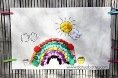 Pom Pom Rainbow Collage - Danya Banya