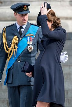 Prince William, Duke of Cambridge and Catherine, Duchess of Cambridge during a Service of Commemoration for troops who were stationed in Afghanistan on 13.03.2015 in London, England