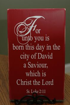 Christmas Decor St. Luke 2.11 Vinyl by dornondesigns on Etsy