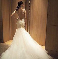 試着⑦マグノリアホワイト♡ガリアラハヴ♡Odette の画像 ショコラの超幸せな結婚式に向けて♡〜パレスホテル東京〜