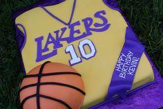 Los Angeles Lakers Birthday Cakes Cake