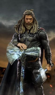 Thor is the first of the Marvel movies to get four solo movies. To celebrate the occasion, one fan h Thanos Marvel, Marvel Comics, Hero Marvel, Marvel Comic Universe, Marvel Films, Marvel Characters, Marvel Dc, Marvel Cinematic, Captain Marvel