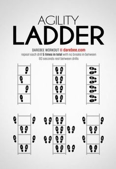 The Agility Ladder workout is designed to help you get nimble enough to turn on a dime. Volleyball Workouts, Basketball Workouts, Soccer Drills, Basketball Hoop, Girls Basketball, Soccer Tips, Girls Softball, Basketball Legends, Field Hockey Drills