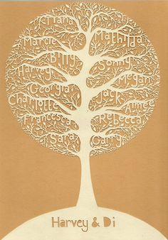 My paper cut family tree by By Charlie's Hand