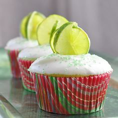key lime cheesecake cupcakes. a cheater recipe. but very oh the possibilities. strawberry cake mix? blueberry?