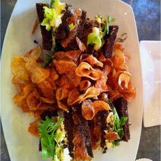 Delicious smoked salmon sandwich! @Benji's