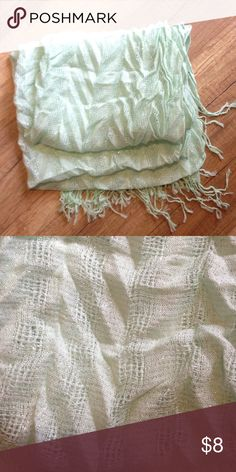 Mint Scarf Cute mint scarf from target with sparkles in it Target Accessories Scarves & Wraps