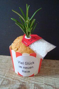 Brot und Salz fürs neue Heim - Bread & salt gift for the new habitat: (Diy Geschenke Gutschein)