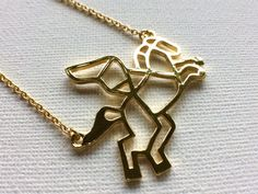 Gold Pegasus Necklace Flying Horse Necklace by PERCIVALandHUDSON