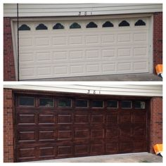Go and visit our site for a whole lot more information on this surprising side hinged garage door Doors, Garage Door Makeover, Minwax Gel Stain, Door Makeover, Vinyl Doors, Contemporary Garage Doors, Garage Door Design, Garage Door Types, Wooden Garage