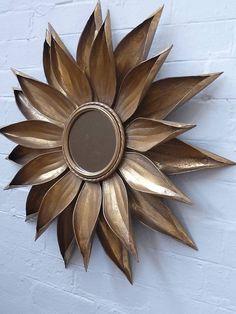 gold sunflower mirror by daisy west | notonthehighstreet.com
