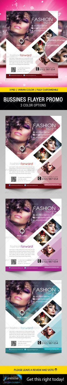 Fashion Flyer Template — Photoshop PSD #promo #business • Available here → https://graphicriver.net/item/fashion-flyer-template/5526831?ref=pxcr