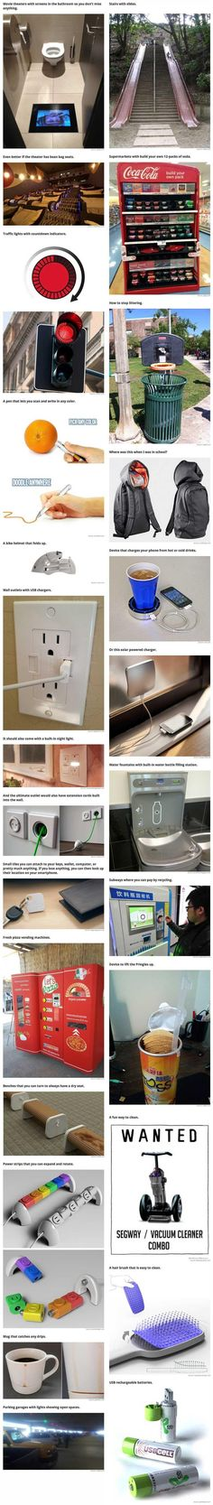 26 clever innovations that totally need to be everywhere already. Really cool inventions that are a necessity. Tech Gadgets, Cool Gadgets, Kids Gadgets, Objet Wtf, Nouvelles Inventions, Weird Inventions, Amazing Inventions, Billy Mays, Innovation