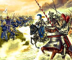 Imperial German Reiters charging against Ottoman Janissaries