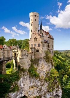 Liechtenstein Castle, Liechtenstein.  A crazy tiny country high in the mountains!  It was freezing in the middle of summer.  But I had to cross it off my list!  http://www.schwartzimmigration.com
