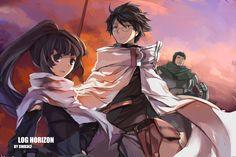 Shiroe, Akatsuki and Naotsugu,