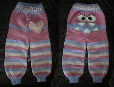 Smoochie: Pattern for my monsterpants in English!  knit in brown, red and cream for Sock Monkey pants