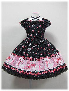 Cherry Berry Bunny OP in Black from Angelic Pretty - Lolita Desu