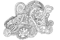 Beautiful Zentangle Art Work Hand Draw Coloring Page in vector format Vector Format, Vector File, Affinity Designer, Coreldraw, Mandala Design, Zentangle, Coloring Pages, How To Draw Hands, Clean Eating