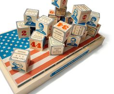 Presidential Blocks containing information on all 44 presidents. Handcrafted from sustainable Michigan basswood. Made in the USA.