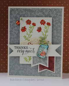 My Creative Room: Tea in the Garden stamp set by Power Poppy, card design by Barbara Campbell.