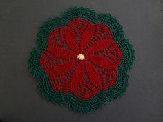 Poinsettia Doily