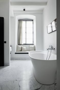 Romance on the Rhine: the Newly Opened Purs Hotel with Interiors by Axel Vervoordt - Remodelista Ensuite Bathrooms, Bathroom Spa, Bathroom Renovations, Small Bathroom, Hotel Bathrooms, Bathroom Goals, Washroom, Bathroom Ideas, Shower Ideas