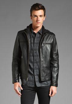 Howe Hellz Bellz Leather Jacket in Paint it Black ($316)