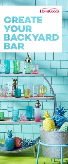 Create a backyard bar with colorful acrylic drink-ware, cocktail shakers and more! Explore an ever-changing selection of outdoor entertaining essentials at ever-amazing prices. You'll know you nailed it when everyone raises a glass to the host. Find more ideas on our Outdoor Pinterest board!