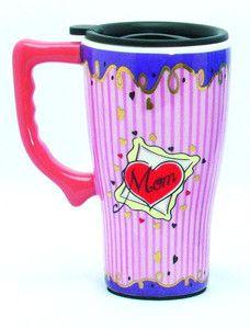 14 oz. CERAMIC TRAVEL MUG FOR MOM.  Valentines Day gift!!  www.TheButtonMansWife.com