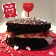 Why Hello Cupcake! Great gluten free treat using our Double Chocolate Muffins, Marshmallows, and fresh Strawberries!
