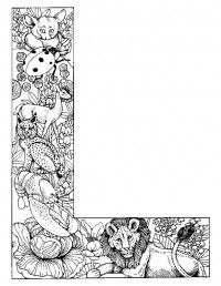 Alphabet Animal Coloring Pages L