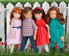 Mini Maru dolls are 33cm tall Maru and Friends dolls named Savannah, Tanya, Chad and Maru. Master doll artist Dianna Effner sculpted the 52cm dolls and the