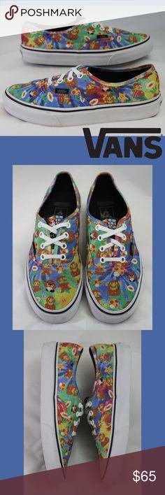 cd28f0a624 Nintendo Mario Tie Dye Vans Men 6 Women 7.5 Limited Edition Old School  Nintendo Mario Bros Tie Dye Lace-up Vans Skate Shoes Unisex Men s size 6  Women s size ...