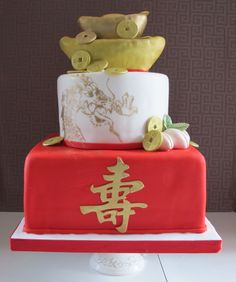 fun chinese wedding cake from www.wishacake.ca