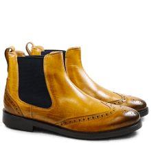 Pom Pom Stiefelette Chelsea boot m. Lochmuster, rose
